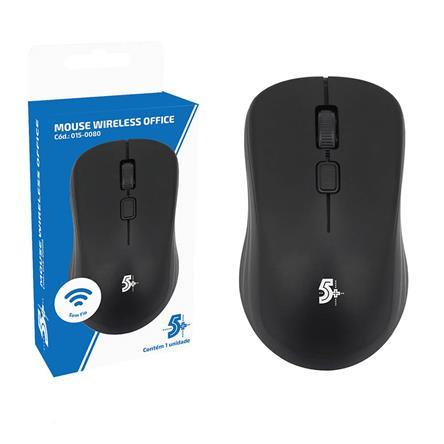 Mouse Sem Fio 5+ Office MW-500 2.4GHz Preto