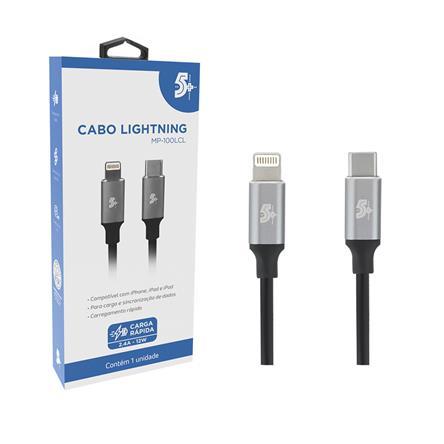 CABO LIGHTNING PARA USB C - 2.0 - 1,2m ALUMINUM MOBILE PREMIUM