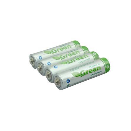 Pilha Manganes  - Pack 4 Pecas - Green