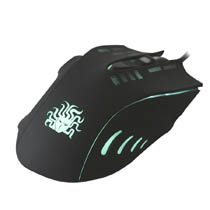 Mouse Gamer 6 Botoes 2400 DPI Black Palm Grip