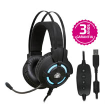 Fone Gamer Nemesis Headshet 7.1 - Black Series C/ Luz De LED Azul - Nm-2212